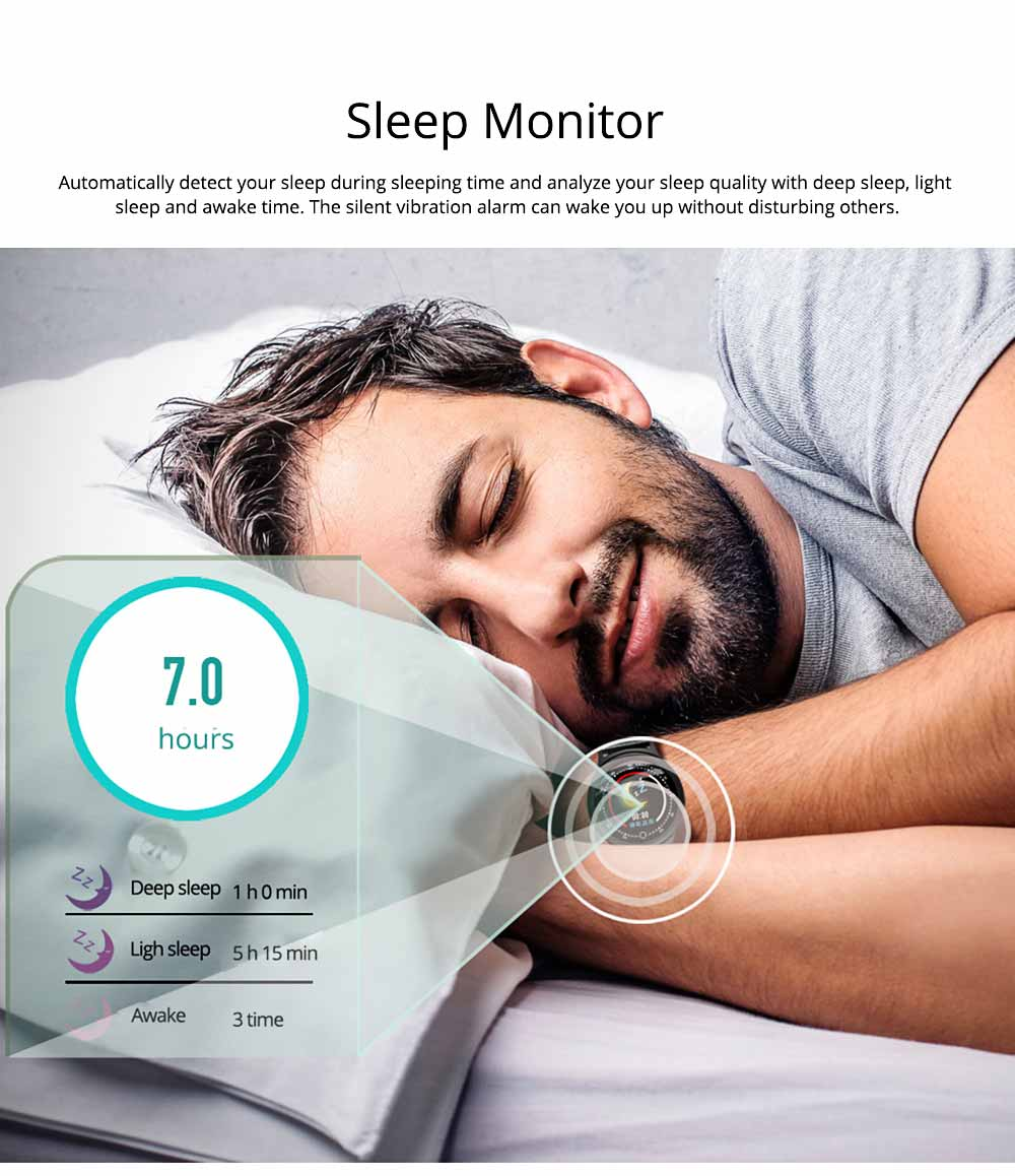 Smart Bracelet with Circle Color Screen for Heart Rate and Sleep Monitoring, Waterproof Business Bracelet 5