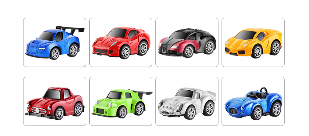 Children Toy Car Pull Back Car Set, Alloy Puzzle Car, Mobilization Q Version Mini Toy Car for Children 6