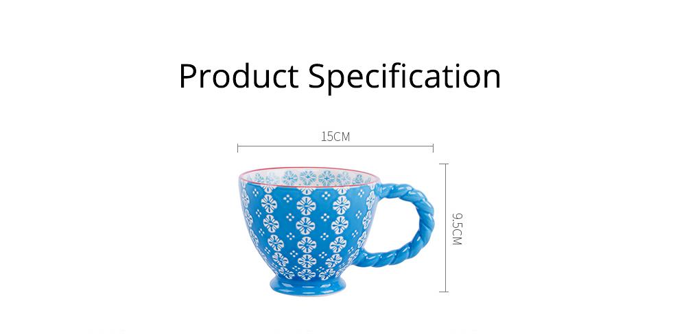Ceramic Cup Breakfast Round Big Opening Mugs for Home Tea Milk Glazed white Porcelain Mug 7