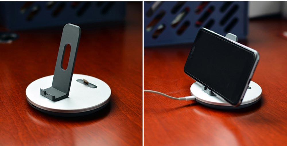 Aluminum Desktop Mobile Phone Charging Base Station Holder for Apple Android Smart Phone 8
