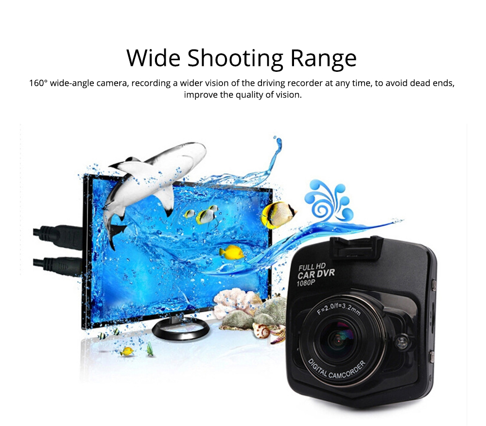 Wireless Car DVR Dash Cam with GPS and Night Vision Function, Full HD 1080P 5