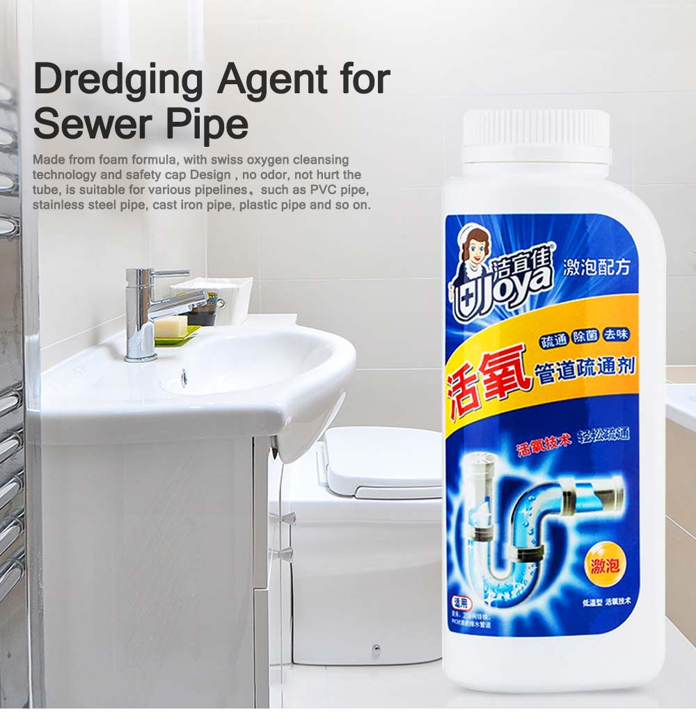 Sewer Pipe Dredge Agent, Artifact Powerful Dredger for Dredging Toilet, Clogging Toilet Kitchen Bathroom Deodorant 0