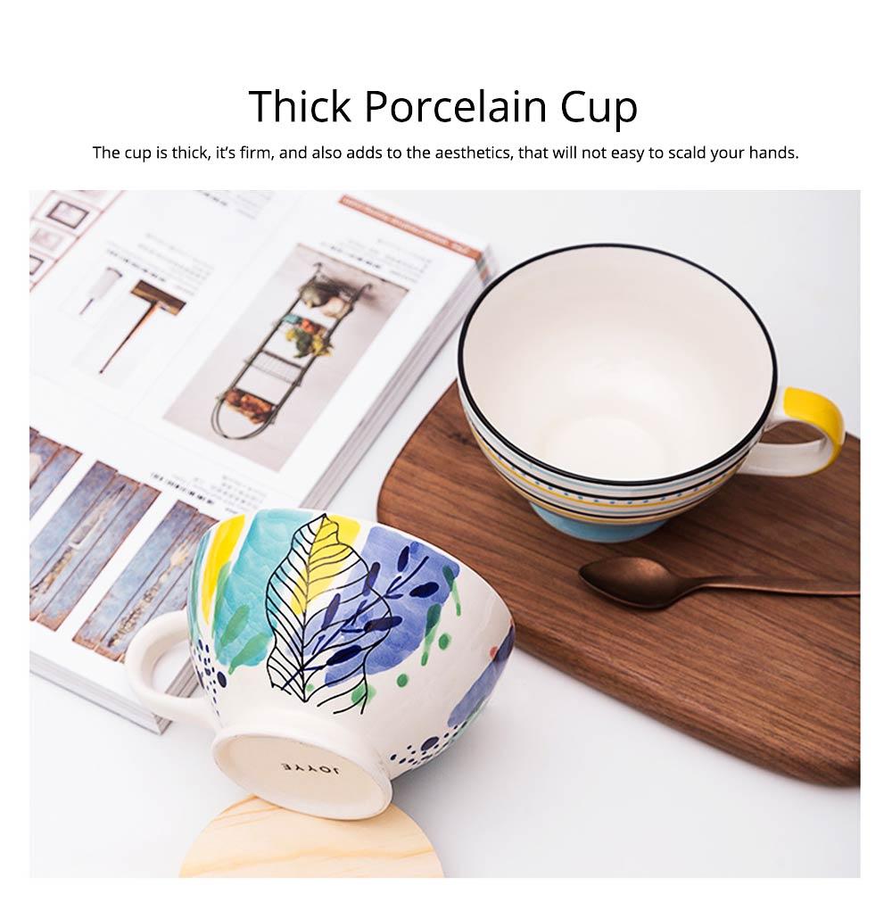 Ceramic Breakfast Mug, Large Capacity Porcelain cup for Water Juice Tea Food 13
