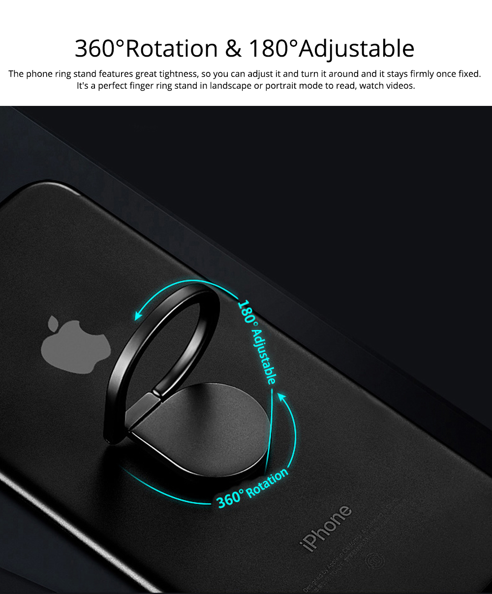 360 ° Rotating Water Droplets Ring Buckle Bracket, Car Metal Finger Buckle Phone Ring Holder 4