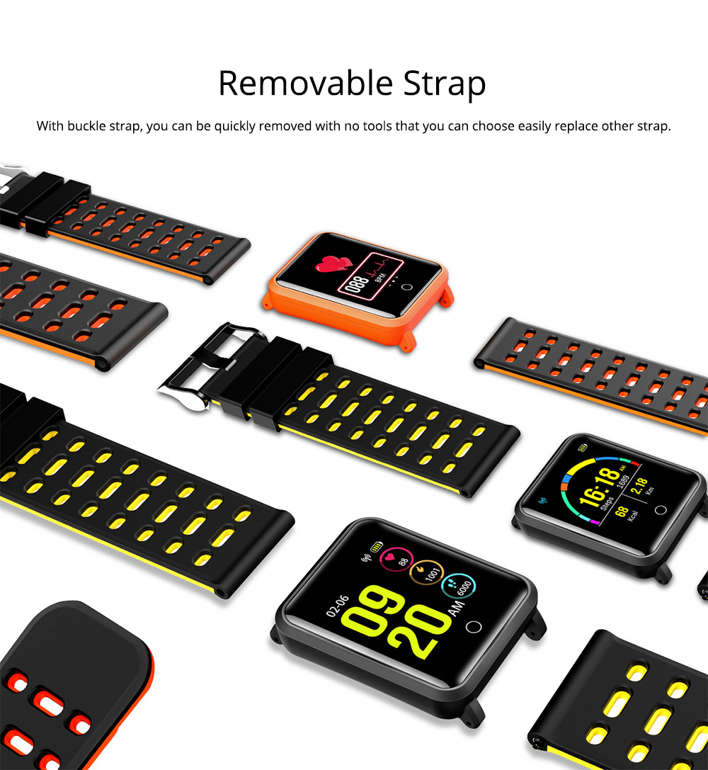 Smart Color Screen Watch for Heart Rate and Blood Pressure with IP68 Waterproof and Anti-loss Multi-movement Bracelet 5