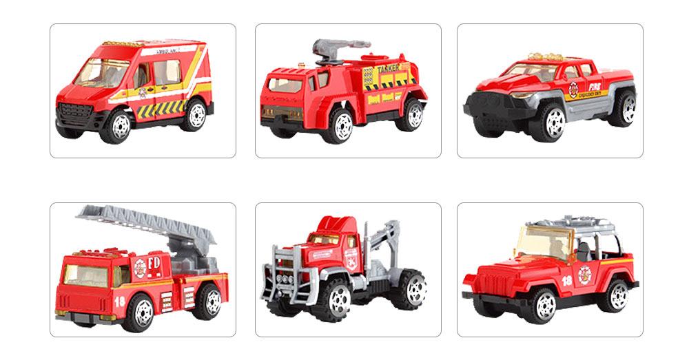 Children Toy Car Pull Back Car Set, Alloy Puzzle Car, Mobilization Q Version Mini Toy Car for Children 7
