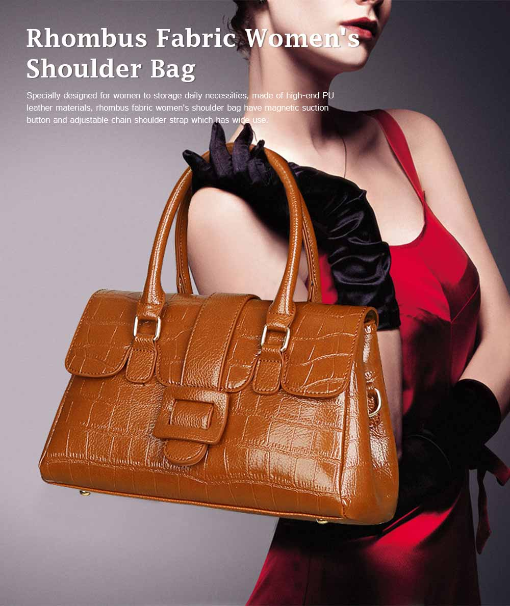 Crocodile Handbag with Magnetic Suction Buckle and Hardware Buckle, Fashion Simple Tote for Women 0
