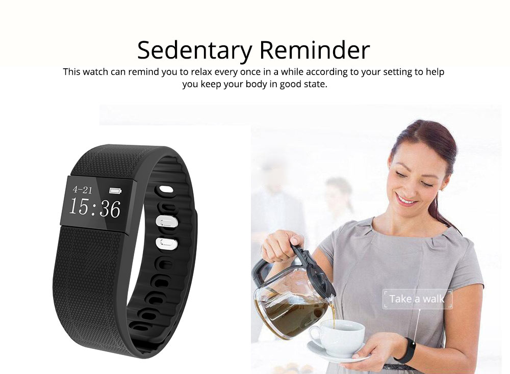 Fitness Smart Bluetooth Silicone Bracelet With Anti-loss Remote Photograph for Sleep Monitoring and Step Counting 2