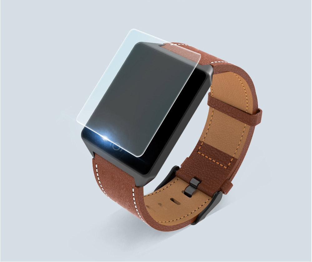 Ultra Long Endurance Bluetooth Smart Bracelet with Skin-friendly Leather Wrist Strap for Heart Rate Motoring 10