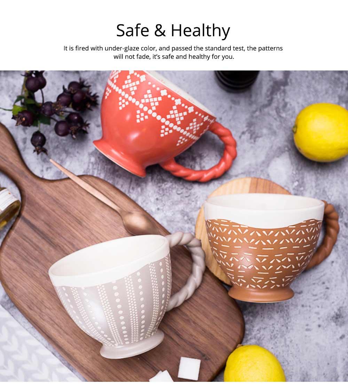 Ceramic Cup Breakfast Round Big Opening Mugs for Home Tea Milk Glazed white Porcelain Mug 3