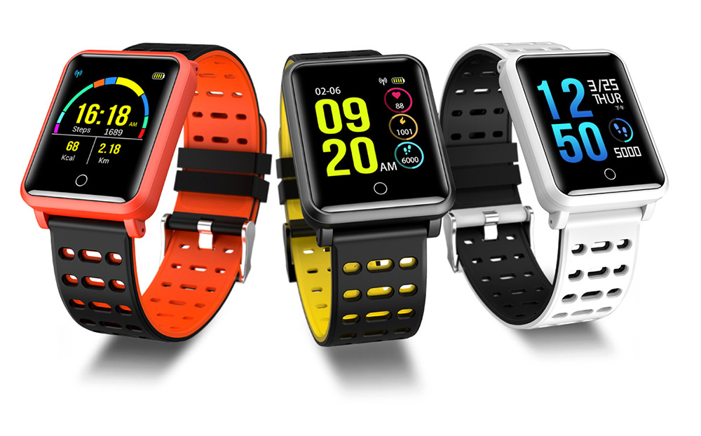 Smart Color Screen Watch for Heart Rate and Blood Pressure with IP68 Waterproof and Anti-loss Multi-movement Bracelet 14