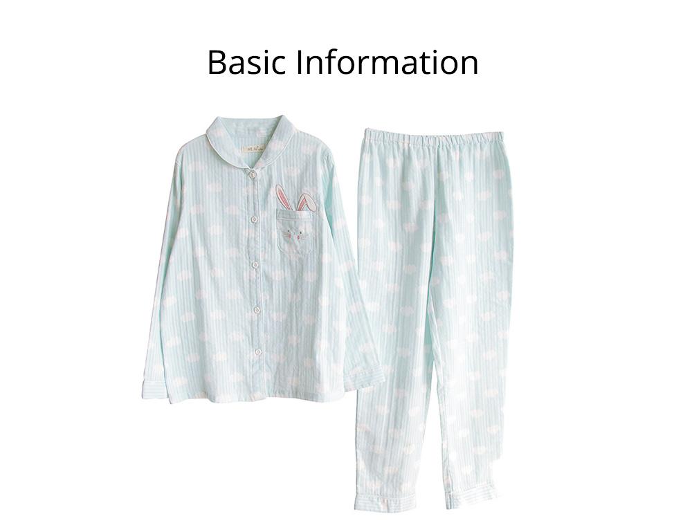 Sleepwear Fashionable Pajamas Set for Girl, Women Soft Long Sleeves Cotton Nightgown 10