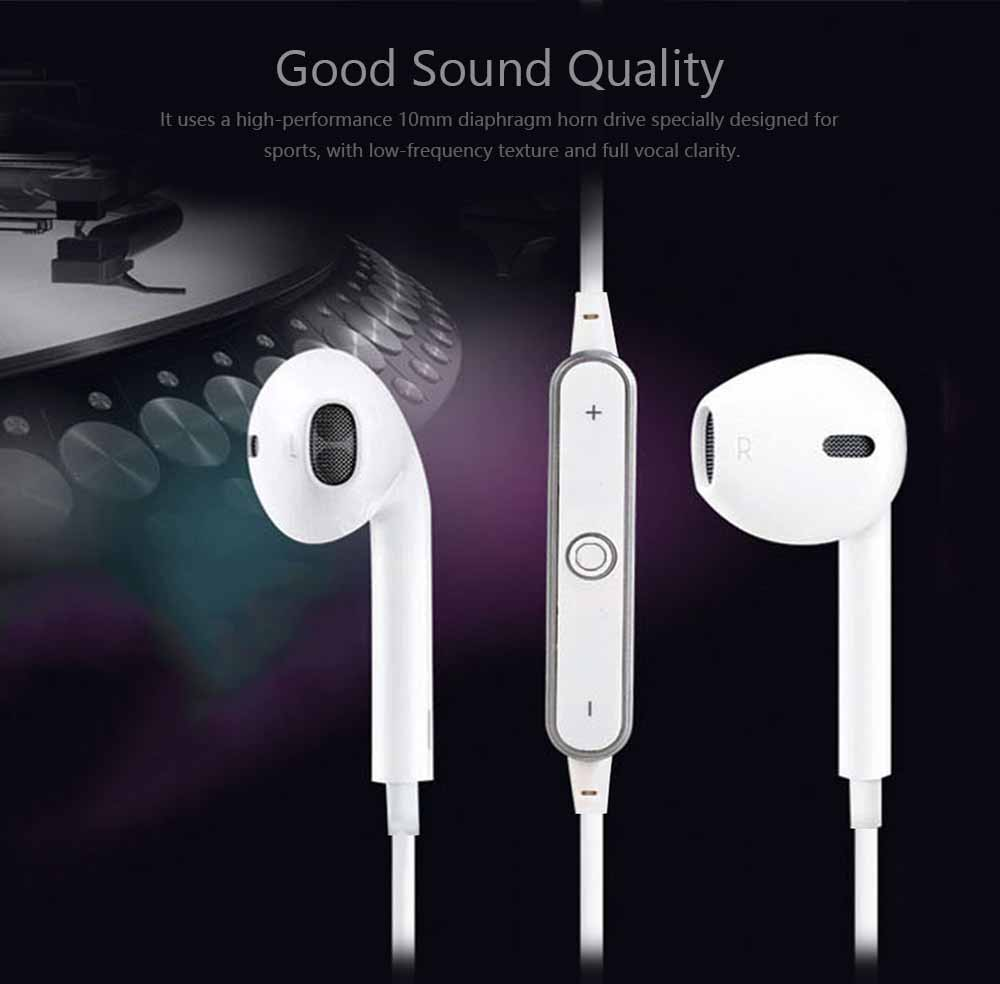 S6 Bluetooth Headset, Sports 4.1 Stereo Wireless Earbuds Gift Explosion Bluetooth Earphone 2