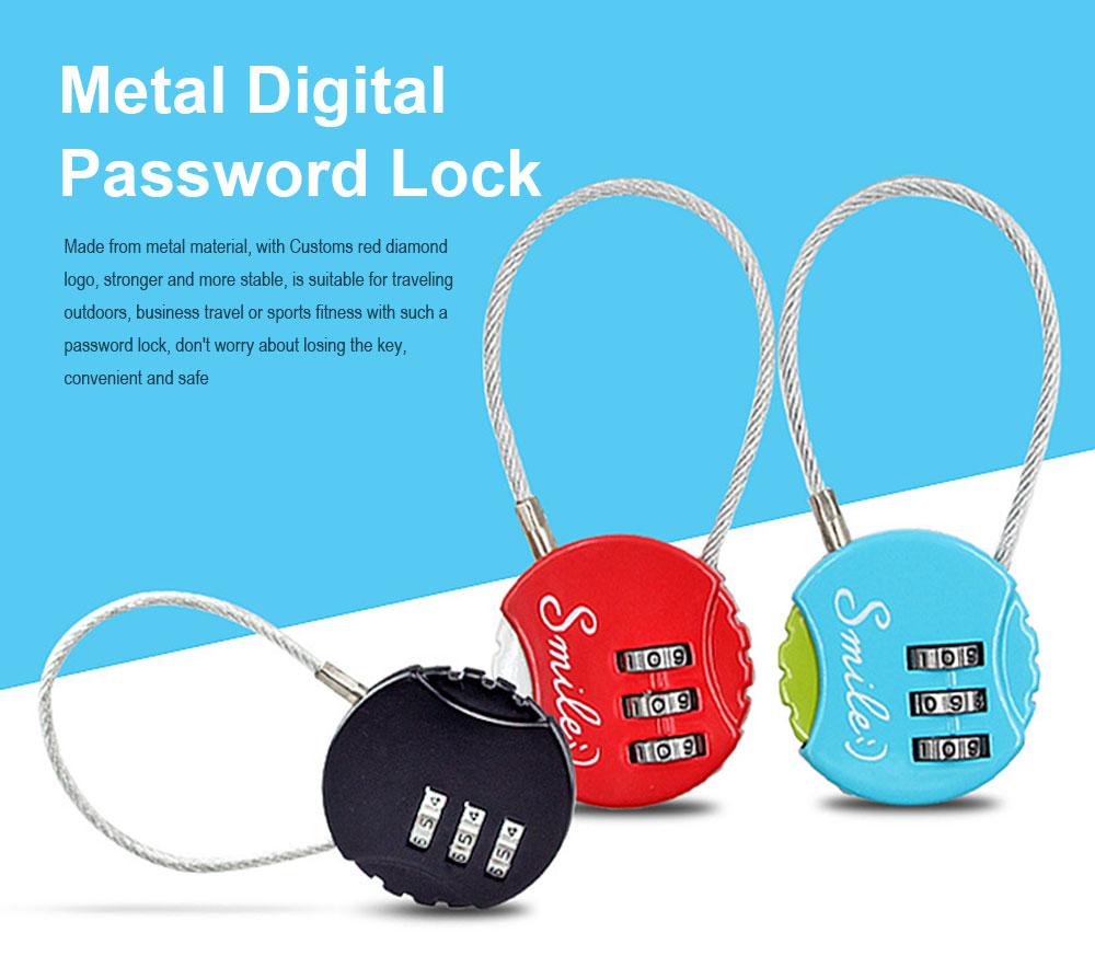 Metal Digital Password Lock, Customs Luggage Password Lock 0