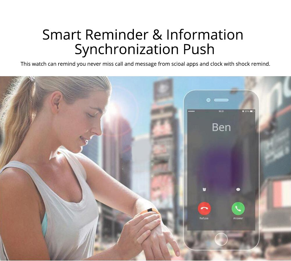 Fitness Smart Bluetooth Silicone Bracelet With Anti-loss Remote Photograph for Sleep Monitoring and Step Counting 5