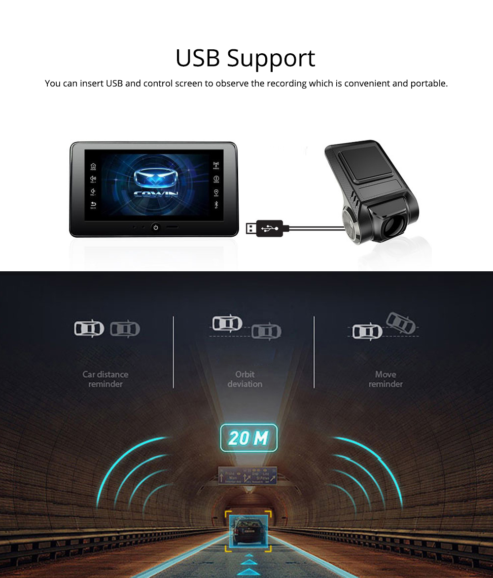 USB Driving Recorder Android Navigation with ADS Auxiliary Driving Speed Electronic Dog for Intelligent Anti-snoring 5