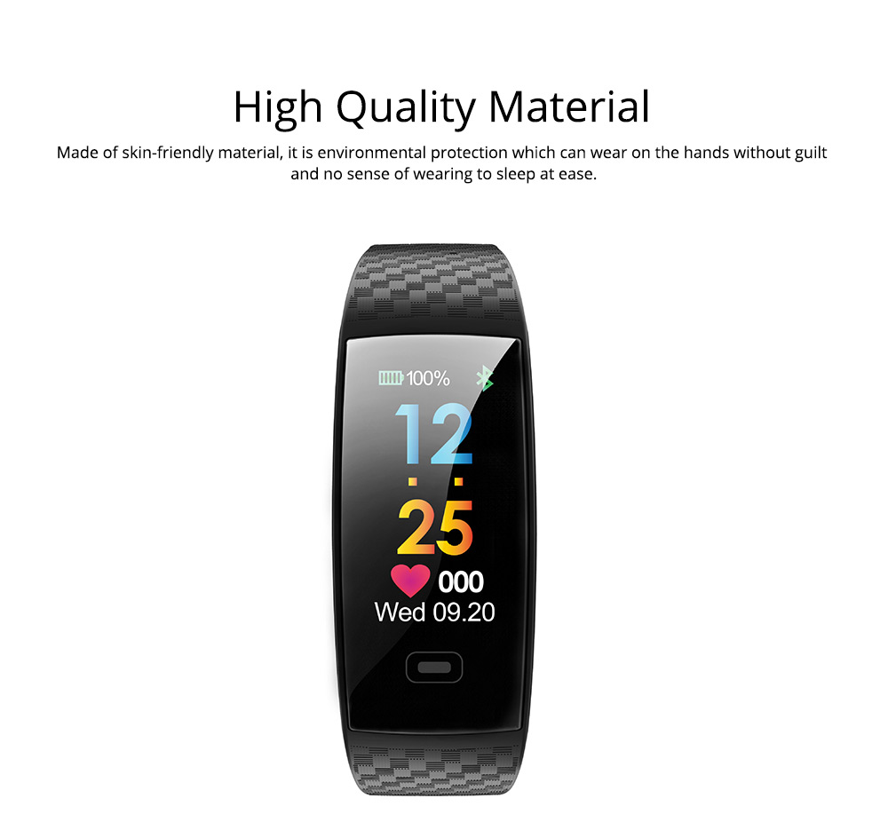 Color Screen Smart Bracelet, Step Counter Fitness Tracker with USB Quick Charge for Heart Rate Monitoring and Blood Pressure Monitoring 2