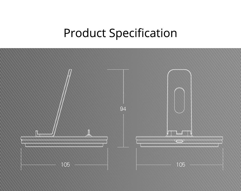 Aluminum Desktop Mobile Phone Charging Base Station Holder for Apple Android Smart Phone 9