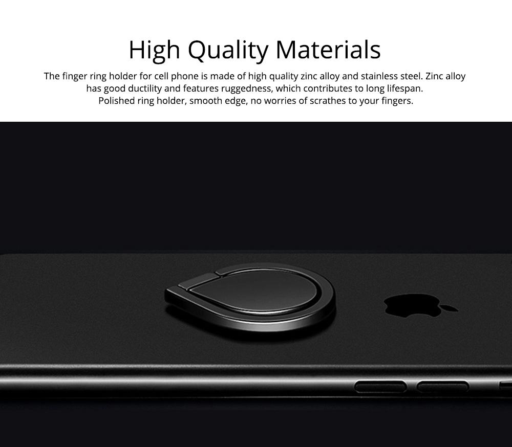360 ° Rotating Water Droplets Ring Buckle Bracket, Car Metal Finger Buckle Phone Ring Holder 1