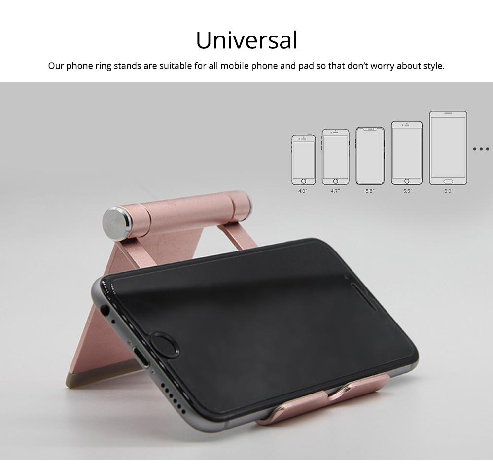 Aluminum Alloy Desktop Phone Holder, Universal Adjustable Foldable Mobile Phone Holder Stand for Live 5
