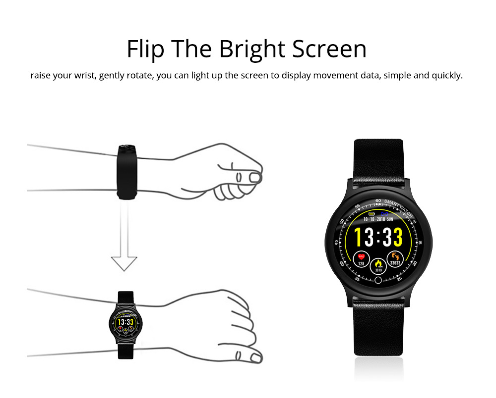 Smart Bracelet with Circle Color Screen for Heart Rate and Sleep Monitoring, Waterproof Business Bracelet 6