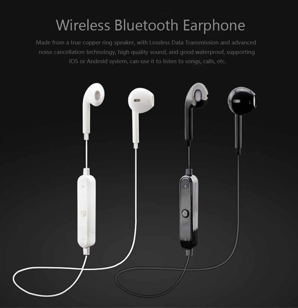 S6 Bluetooth Headset, Sports 4.1 Stereo Wireless Earbuds Gift Explosion Bluetooth Earphone 0
