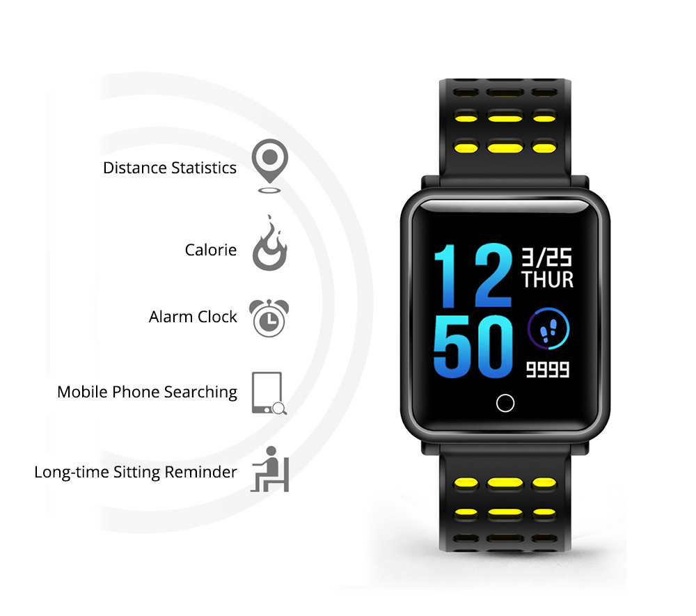 Smart Color Screen Watch for Heart Rate and Blood Pressure with IP68 Waterproof and Anti-loss Multi-movement Bracelet 2
