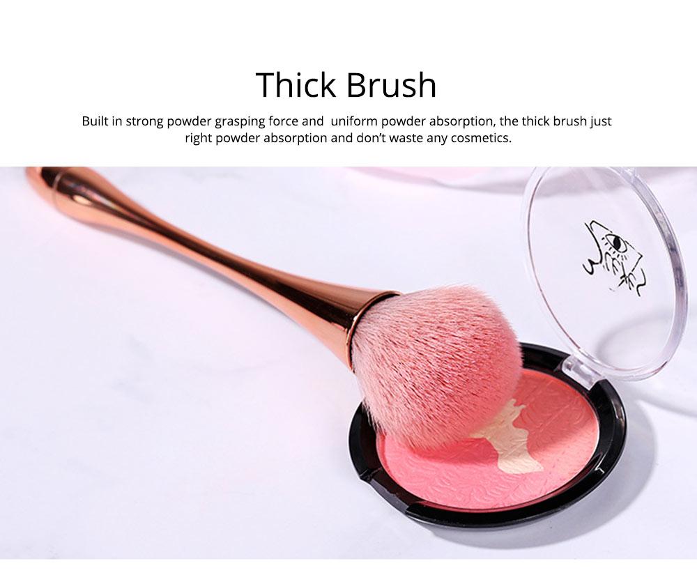 Multifunctional Makeup Brush with Small Pretty Waist, Beauty Makeup Blush Powder Painting as Powder Paint and Blush Brush 2