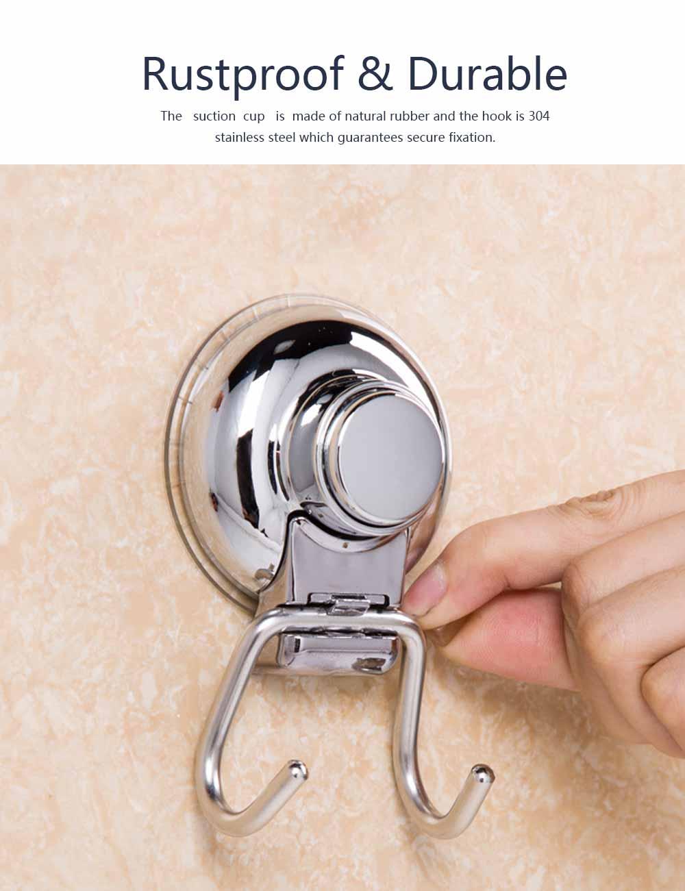 Bathroom Shower Towel Hook, Kitchen Wall Hanger, Stainless Steel Heavy Duty Hook 6