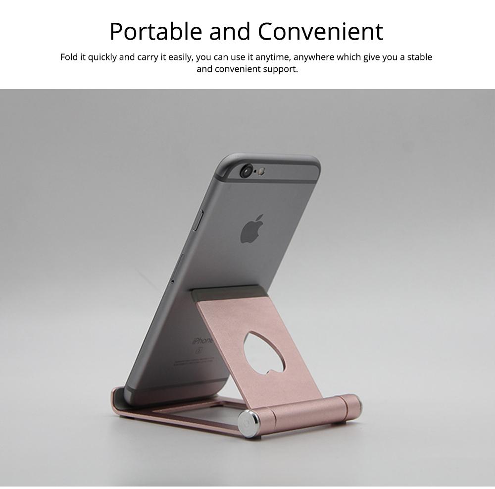Aluminum Alloy Desktop Phone Holder, Universal Adjustable Foldable Mobile Phone Holder Stand for Live 3
