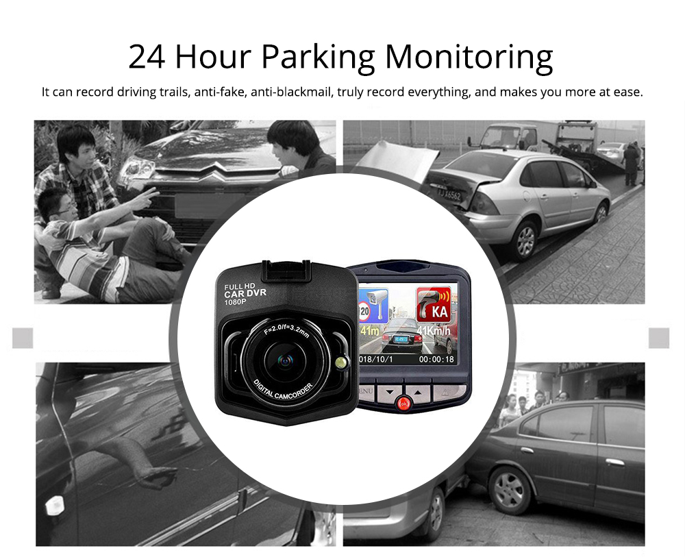 Wireless Car DVR Dash Cam with GPS and Night Vision Function, Full HD 1080P 6
