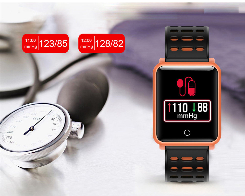 Smart Color Screen Watch for Heart Rate and Blood Pressure with IP68 Waterproof and Anti-loss Multi-movement Bracelet 7