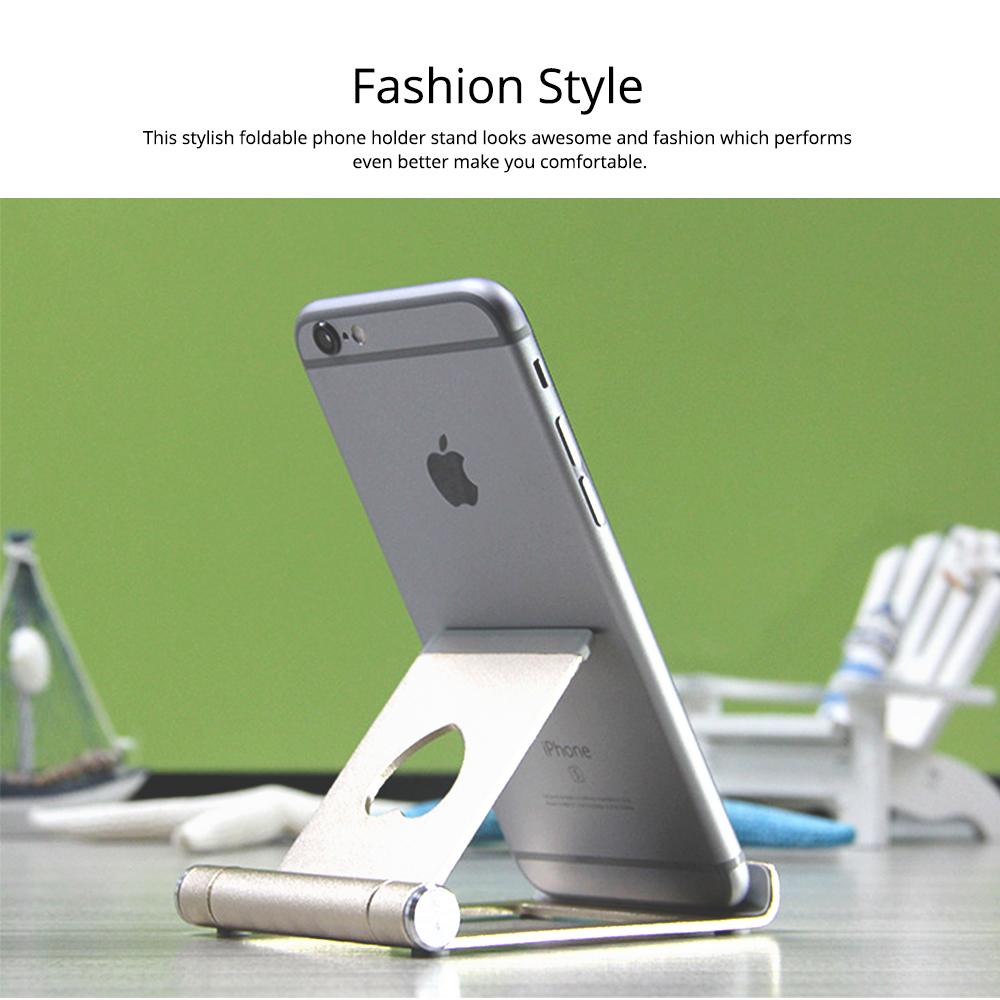 Aluminum Alloy Desktop Phone Holder, Universal Adjustable Foldable Mobile Phone Holder Stand for Live 6