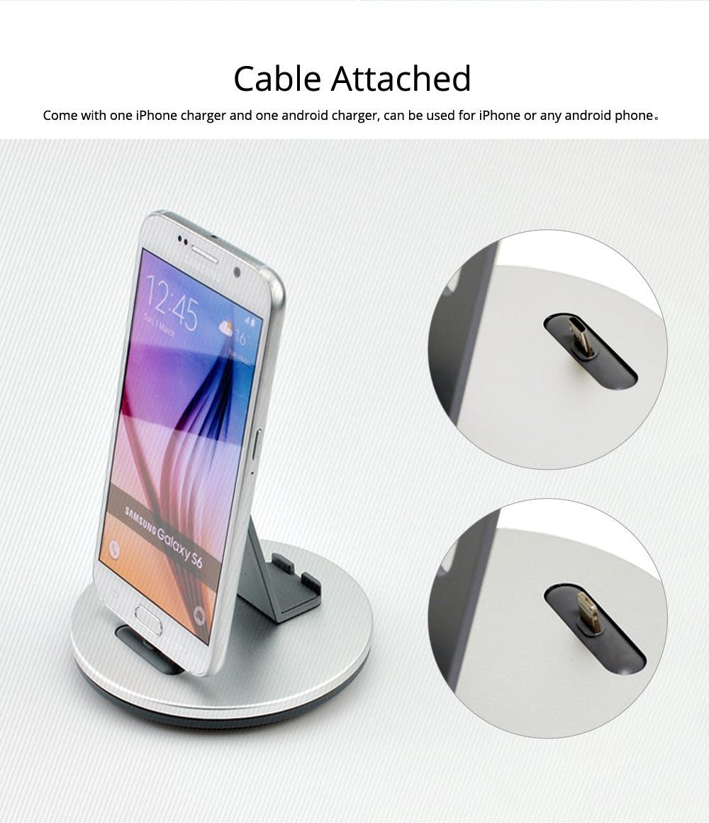 Aluminum Desktop Mobile Phone Charging Base Station Holder for Apple Android Smart Phone 3