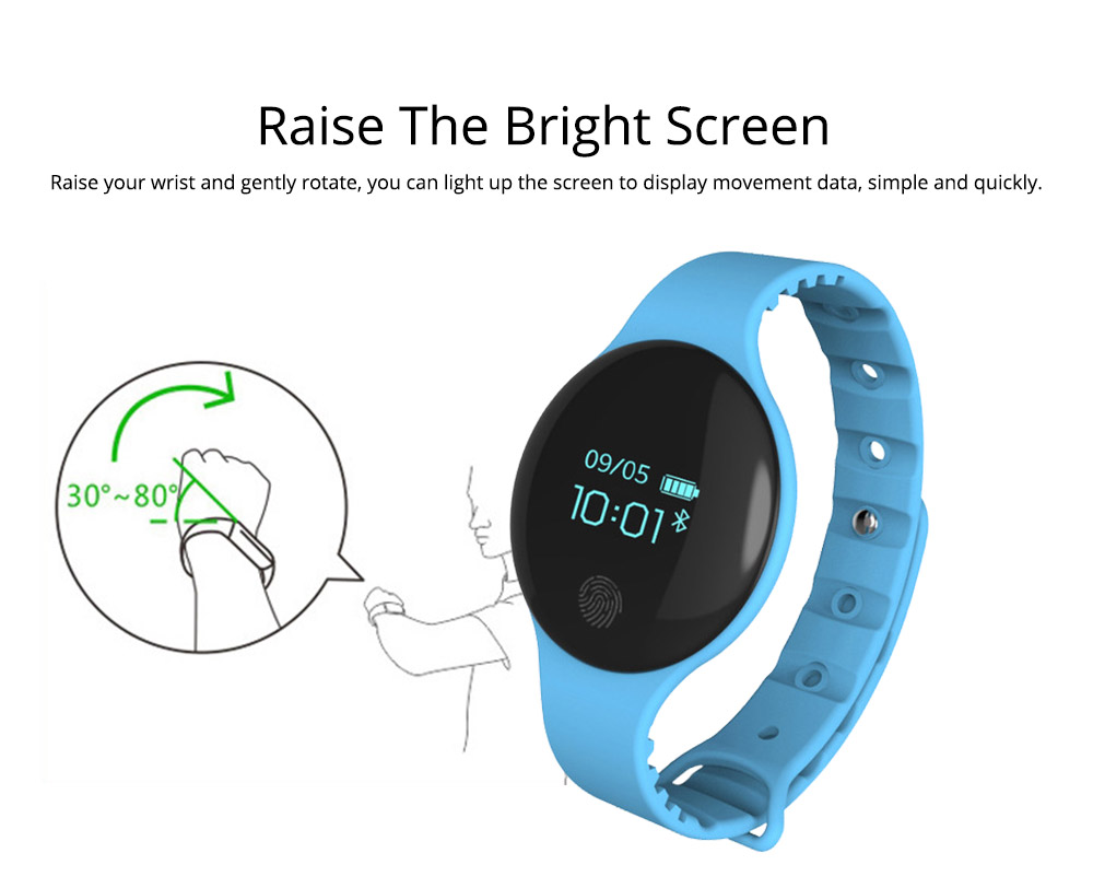 Sports Smart Watch Smart Silicone Bracelet with Touch Screen Bluetooth Pedometer for Children's Gift 1