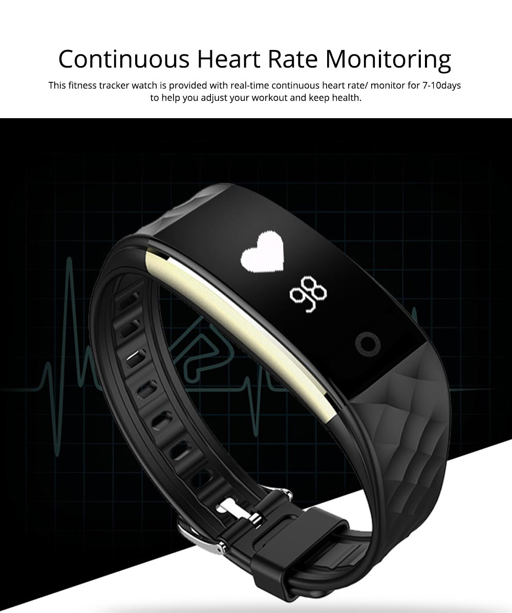 IP67 Waterproof Smart Bracelet with One-click Photo for Continuous Heart Rate Monitoring and Call Reminder 1