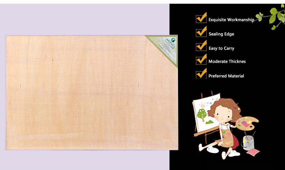 2K Eucalyptus Drawing Board, Painting Board Canvas, 23.6*35 inch Painting Board Stand 1
