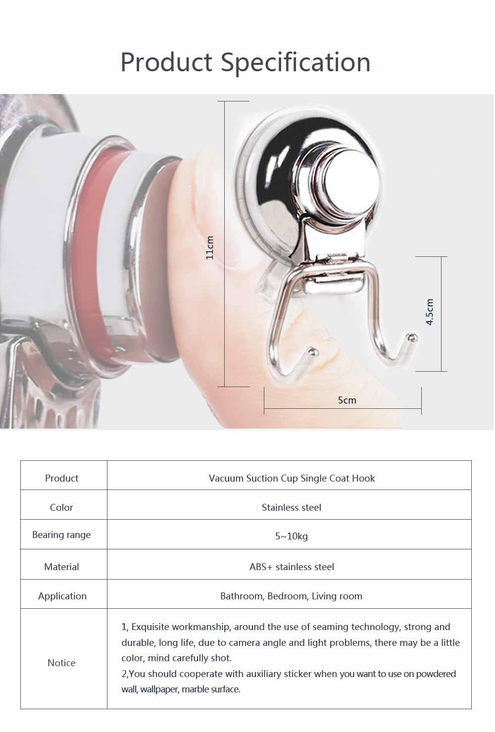 Bathroom Shower Towel Hook, Kitchen Wall Hanger, Stainless Steel Heavy Duty Hook 7