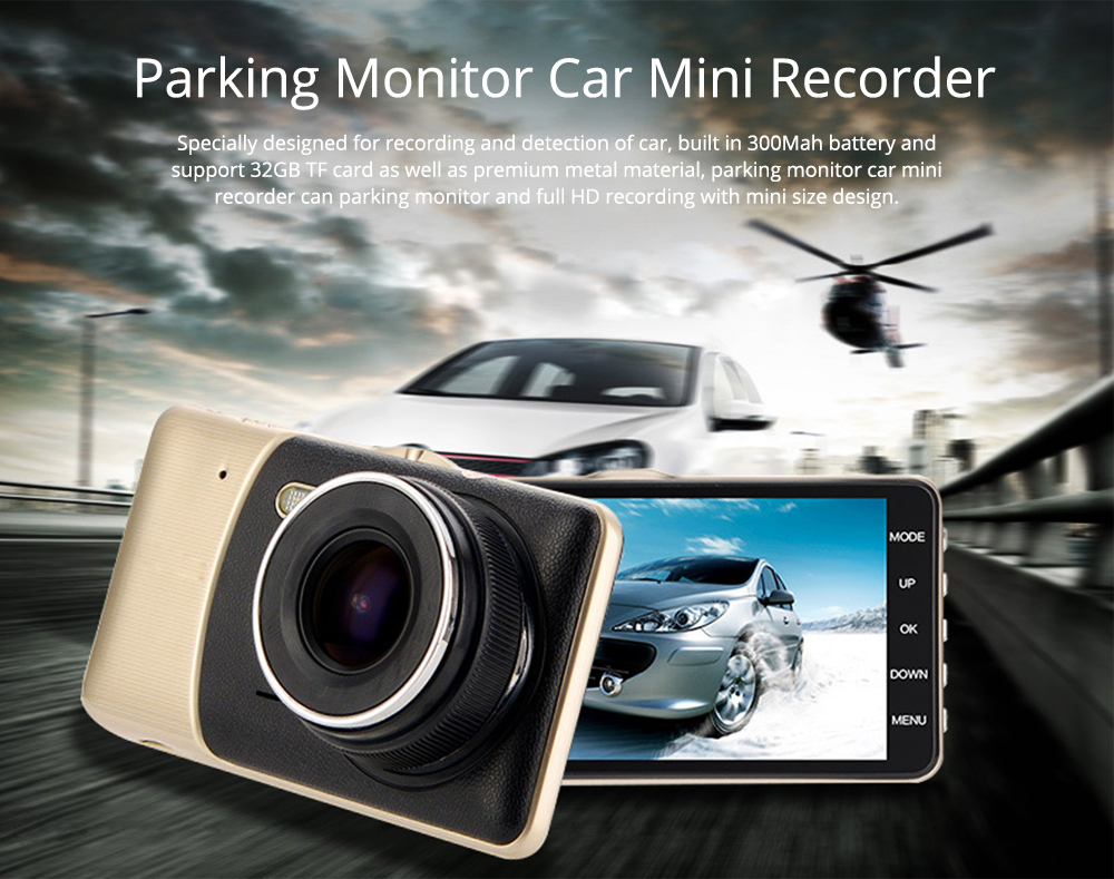 Driving Recorder HD 1080P Night Vision Large Wide Angle Camera Parking Monitor for Cars, Cab Driver 0