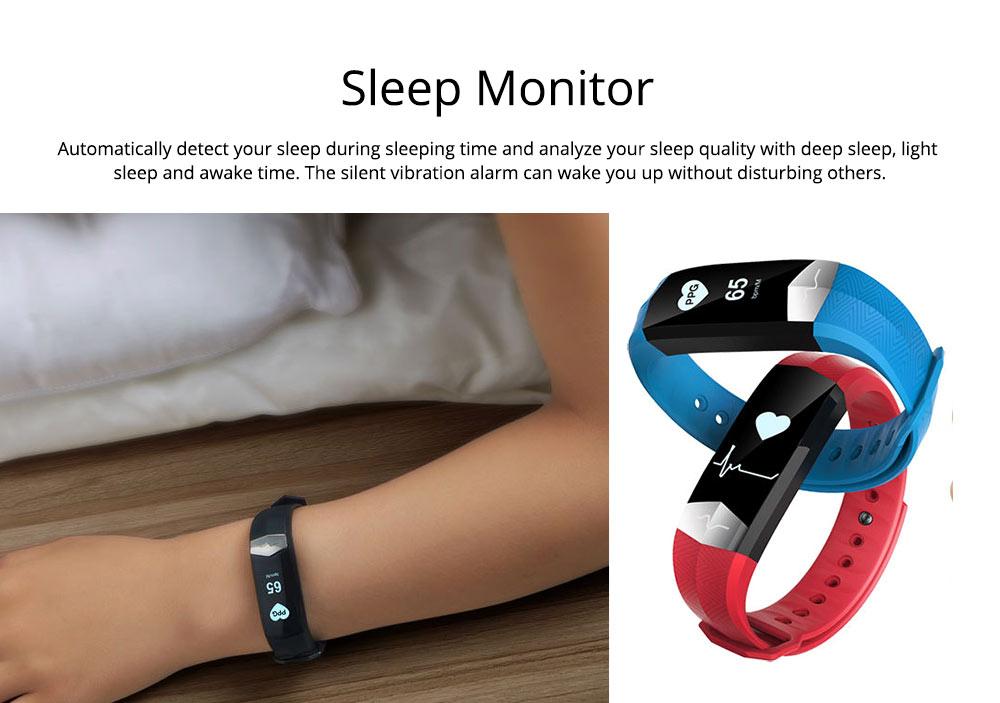 Blood Pressure and Heart Rate Bracelet, Electrocardiogram Smart Bracelet with Multiple Languages for PPG+ECG Electrode type 3