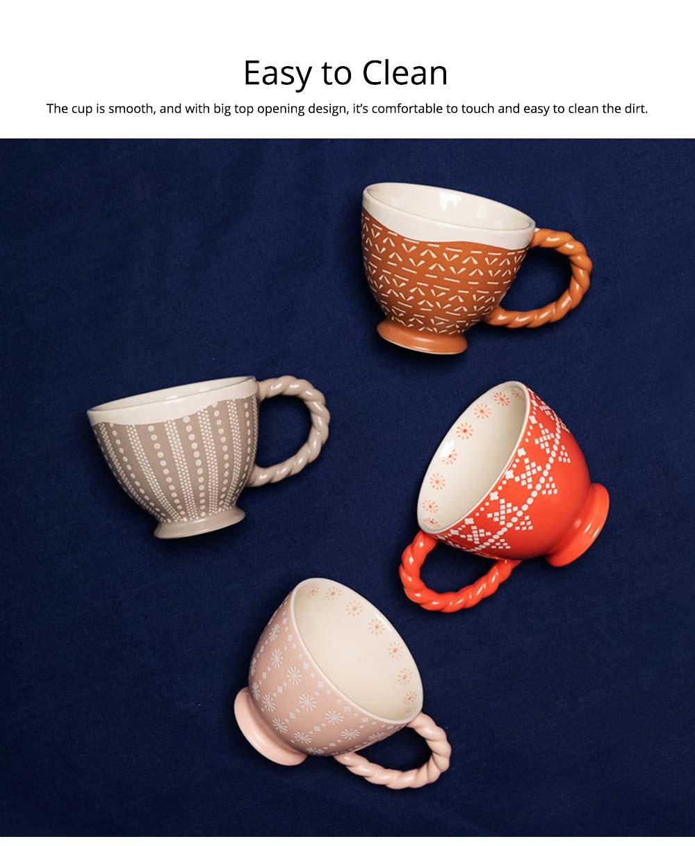 Ceramic Cup Breakfast Round Big Opening Mugs for Home Tea Milk Glazed white Porcelain Mug 4