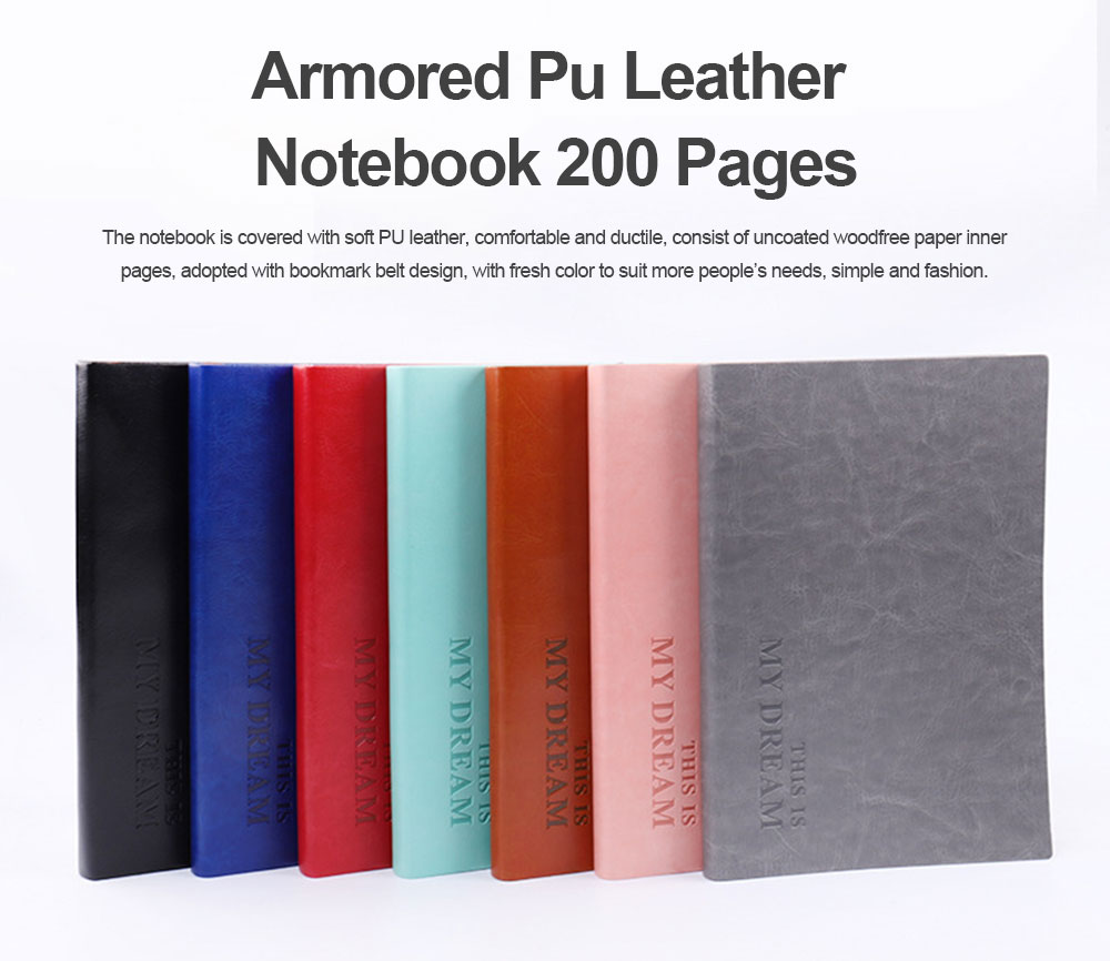 Armored PU Leather A6/B6/A5/B5/A4 Notebook Journal Diary 200 Pages 0