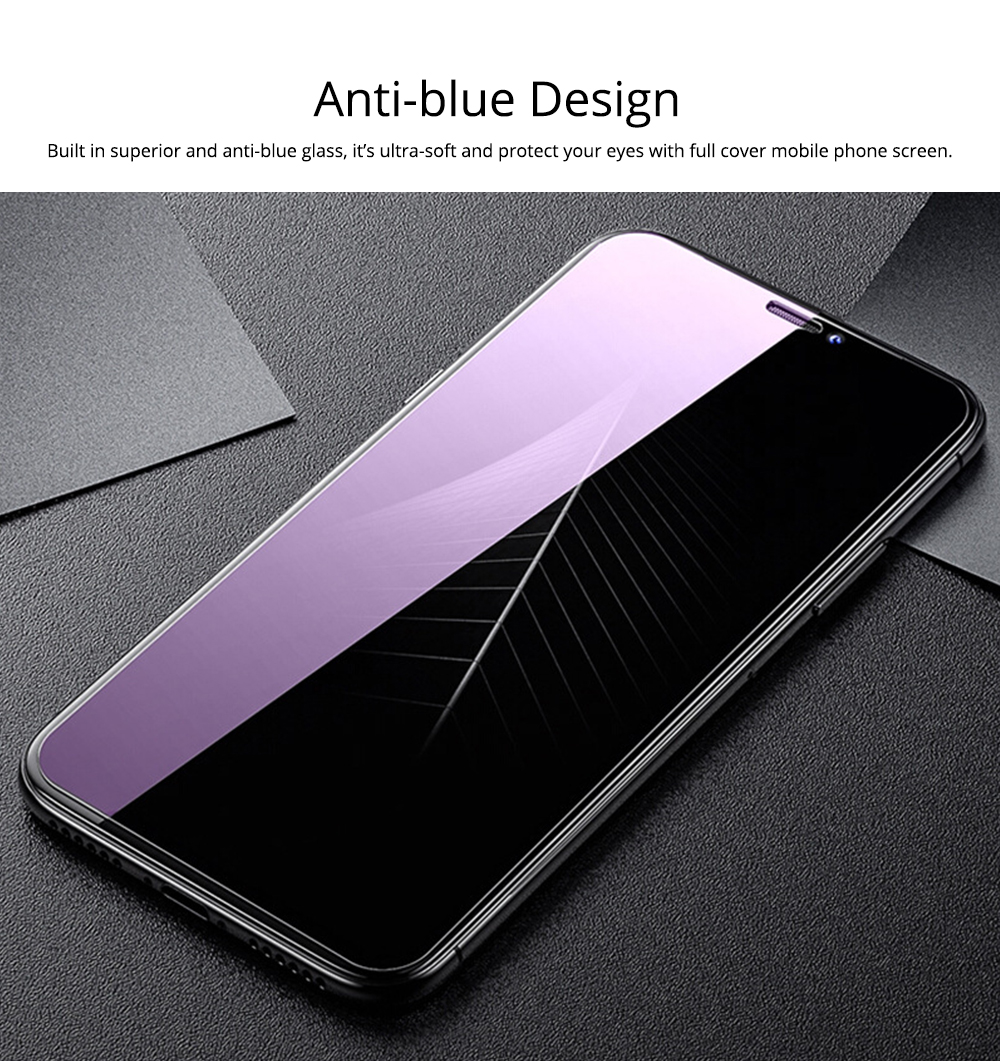 Tempered File for iPhone XS, Tempered Screen Protector for Apple X, iPhone 5s/6/7/8/Anti-Blue Light Film 3
