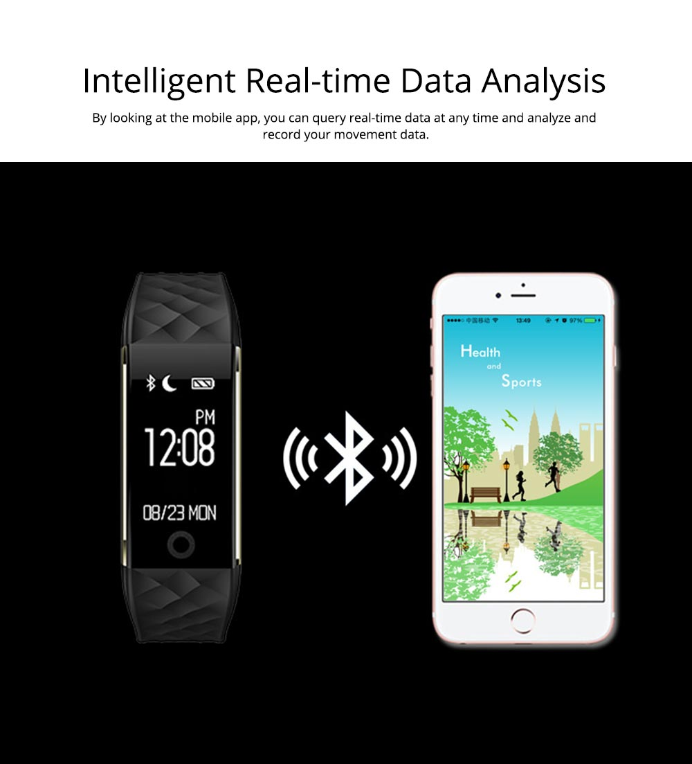 IP67 Waterproof Smart Bracelet with One-click Photo for Continuous Heart Rate Monitoring and Call Reminder 7