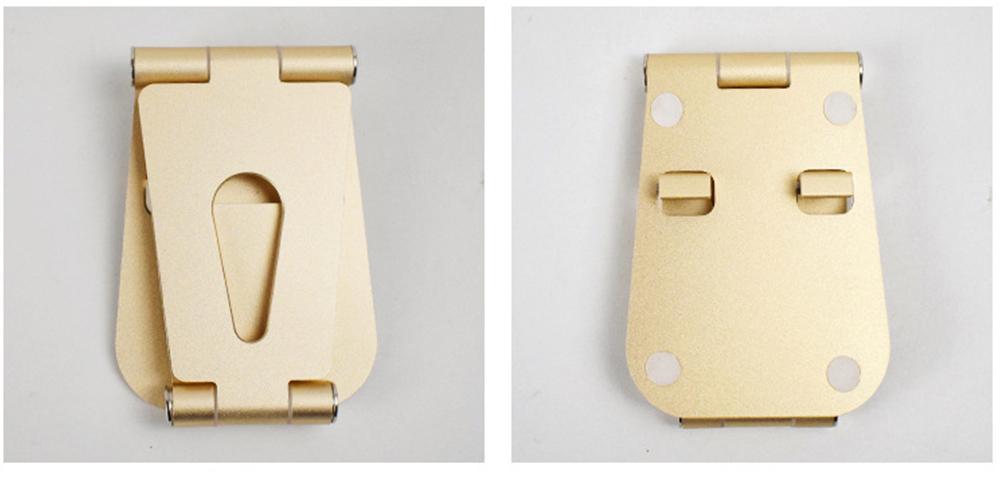 Aluminum Alloy Desktop Phone Holder, Portable Double Adjustable Folding Mobile Phone Tablet Bracket for Universal Compatibility 11