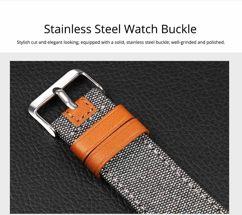 Genuine Leather Apple Watchband Strap with Stainless Steel Watch Buckle for Apple iWatch 1/2/3 4