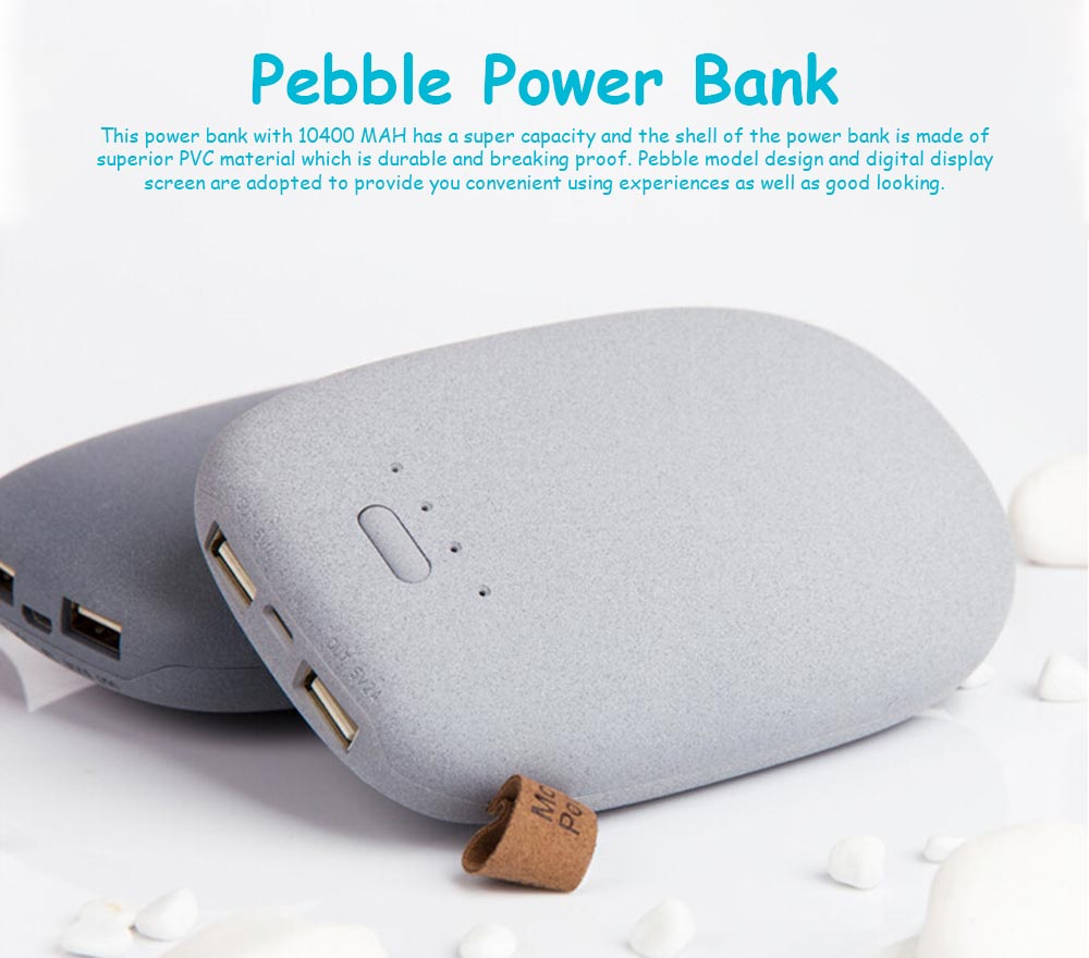 10400MAH Pebble Power Bank, Super Power Bank For Smart Phone 0