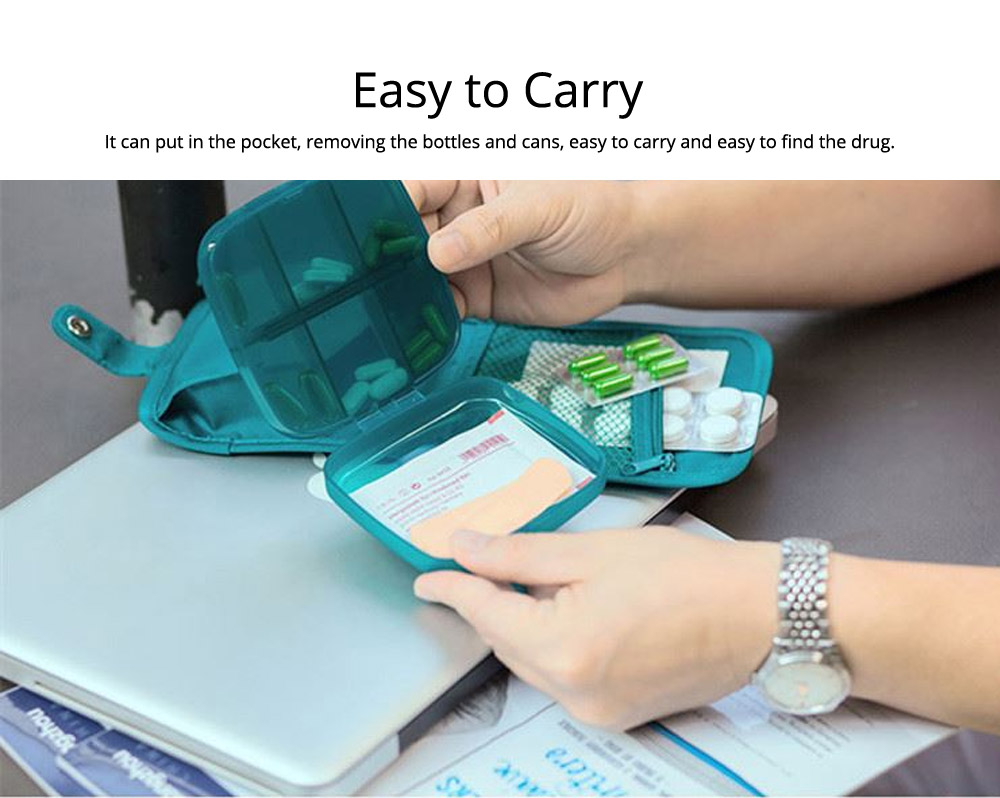 Weekly Medicine Storage Box, Portable Translucent Drugs Storage Box for Home, Office, Dormitory 6