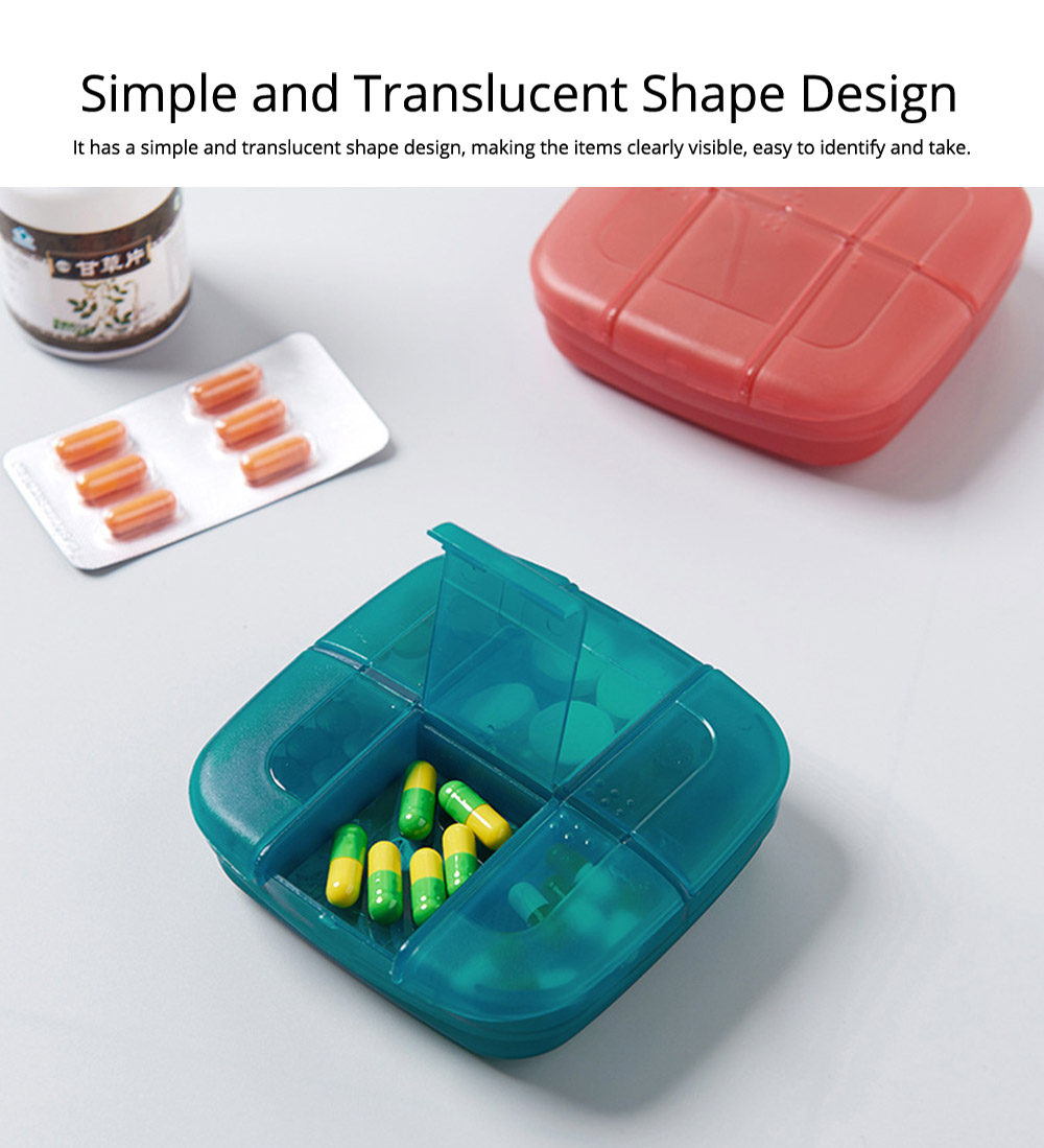 Weekly Medicine Storage Box, Portable Translucent Drugs Storage Box for Home, Office, Dormitory 2