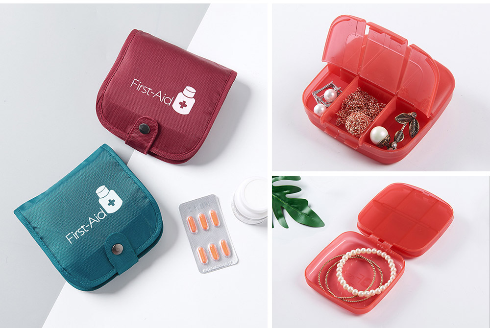 Weekly Medicine Storage Box, Portable Translucent Drugs Storage Box for Home, Office, Dormitory 9